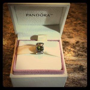 Pandora Green Oval Lights Charm
